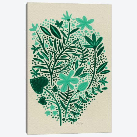 Garden Green Canvas Print #CCE190} by Cat Coquillette Art Print
