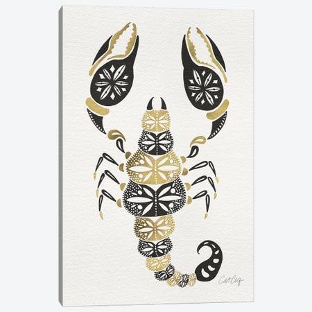 Gold Balck Scorpion Canvas Print #CCE193} by Cat Coquillette Canvas Art Print