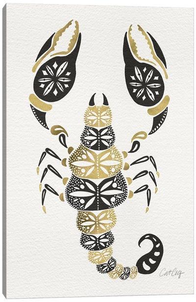 Gold Balck Scorpion Canvas Art Print