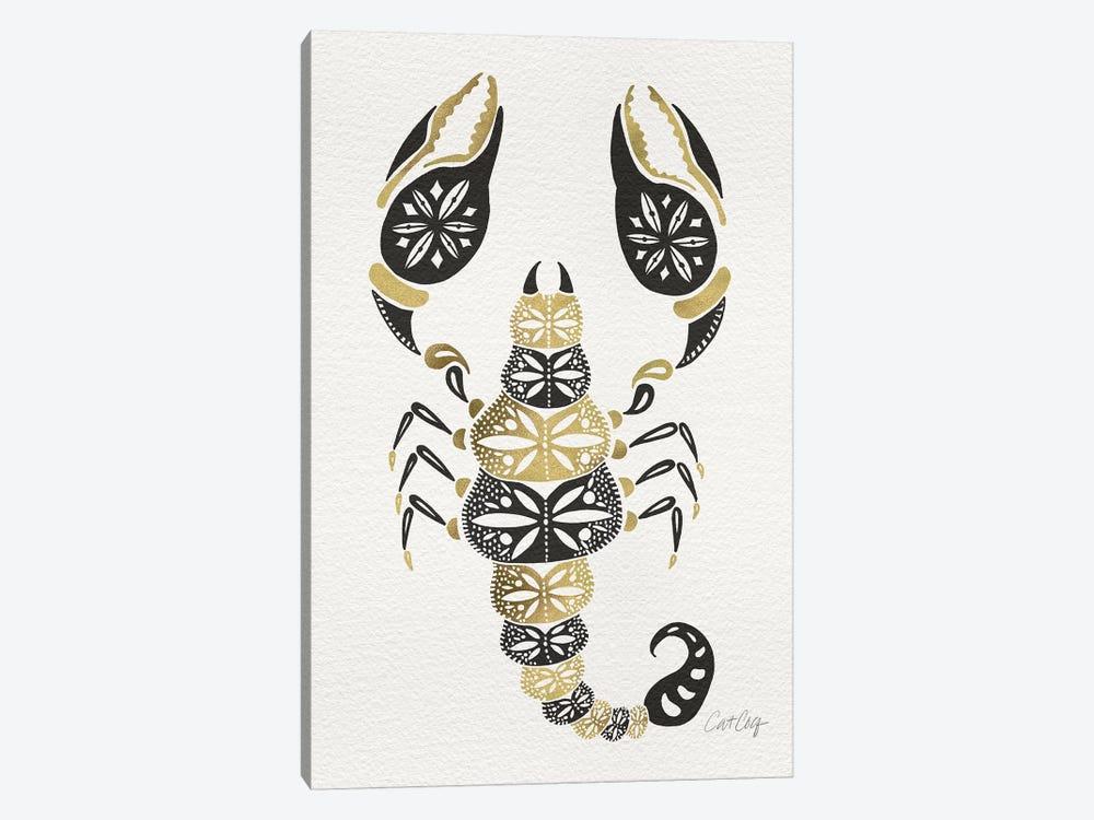 Gold Balck Scorpion by Cat Coquillette 1-piece Art Print