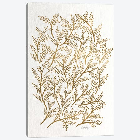 Gold Branches Canvas Print #CCE194} by Cat Coquillette Canvas Artwork