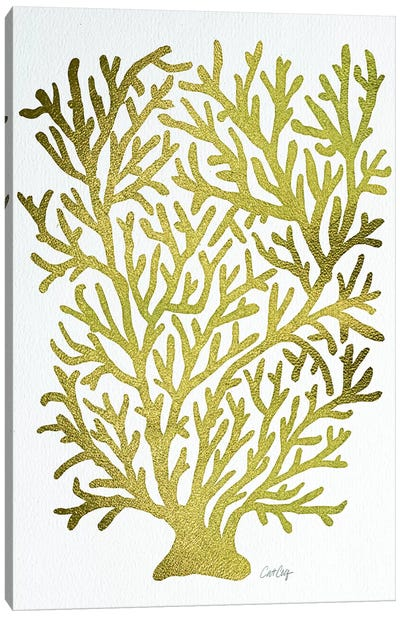 Gold Coral Artprint Canvas Art Print