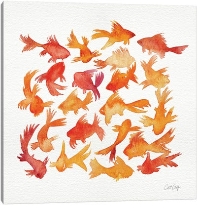 Goldfish Canvas Art Print
