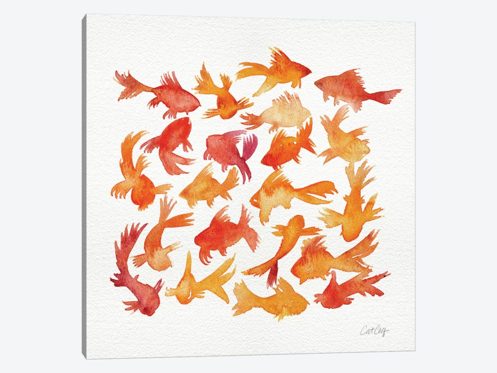 Goldfish by Cat Coquillette 1-piece Canvas Wall Art