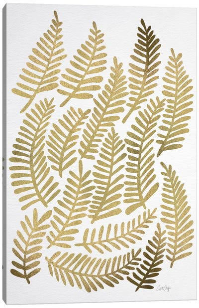Gold Fronds Artprint Canvas Art Print