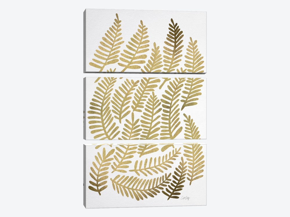 Gold Fronds Artprint by Cat Coquillette 3-piece Art Print