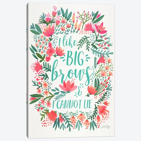 Big Brows I Canvas Print #CCE200} by Cat Coquillette Art Print