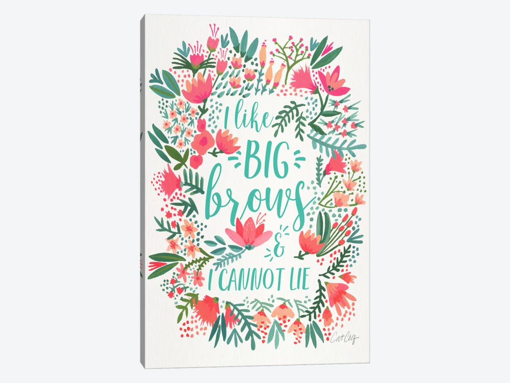 Big Brows I by Cat Coquillette 1-piece Art Print