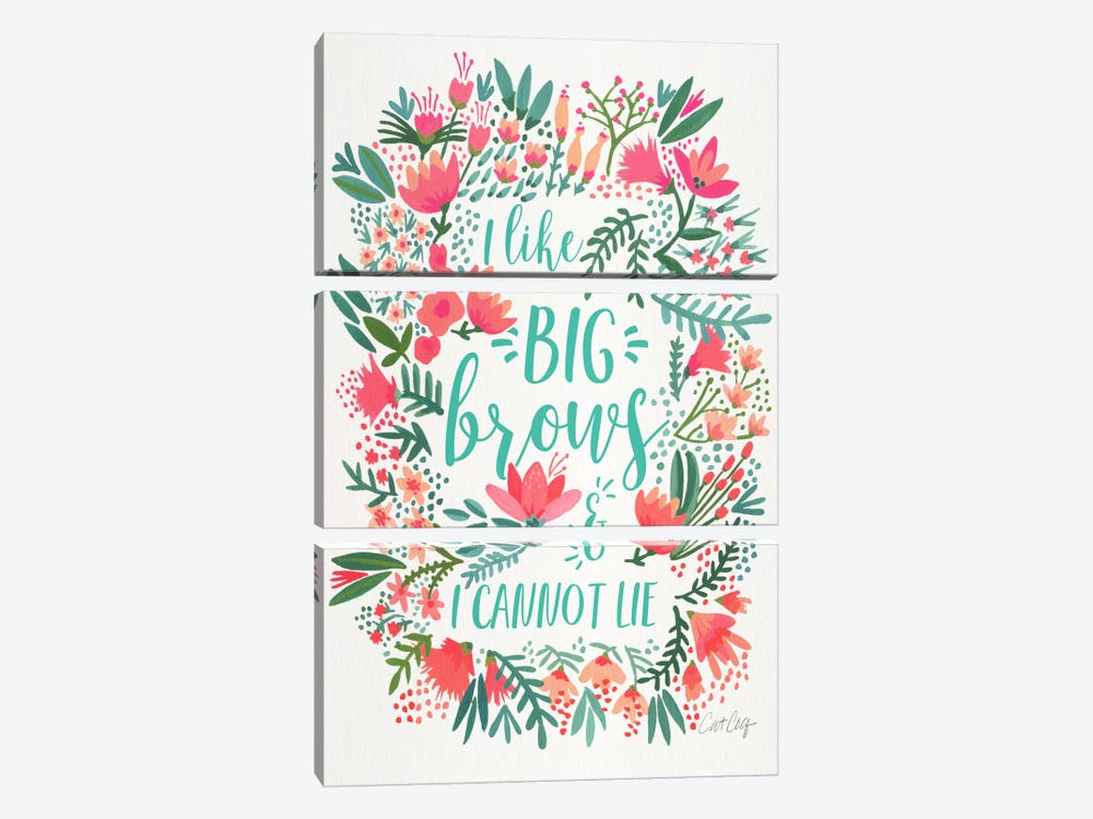 Big Brows I by Cat Coquillette 3-piece Art Print