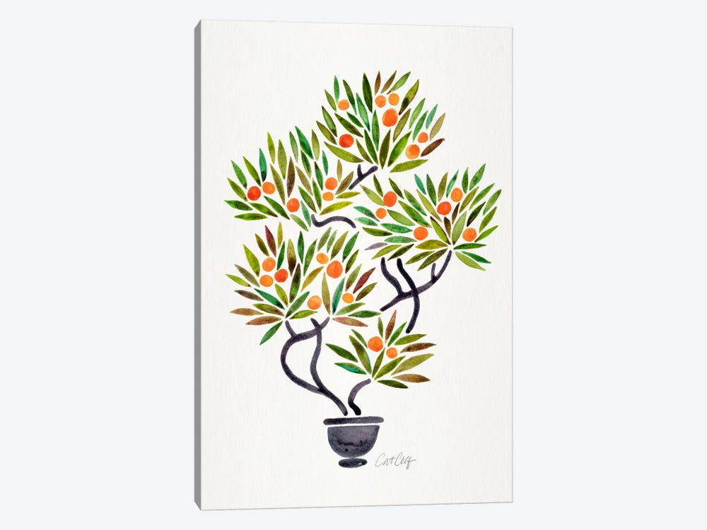 Bonsai Orange Tree I by Cat Coquillette 1-piece Canvas Artwork