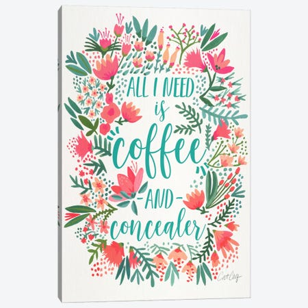 Coffee & Concealer I Canvas Print #CCE202} by Cat Coquillette Art Print