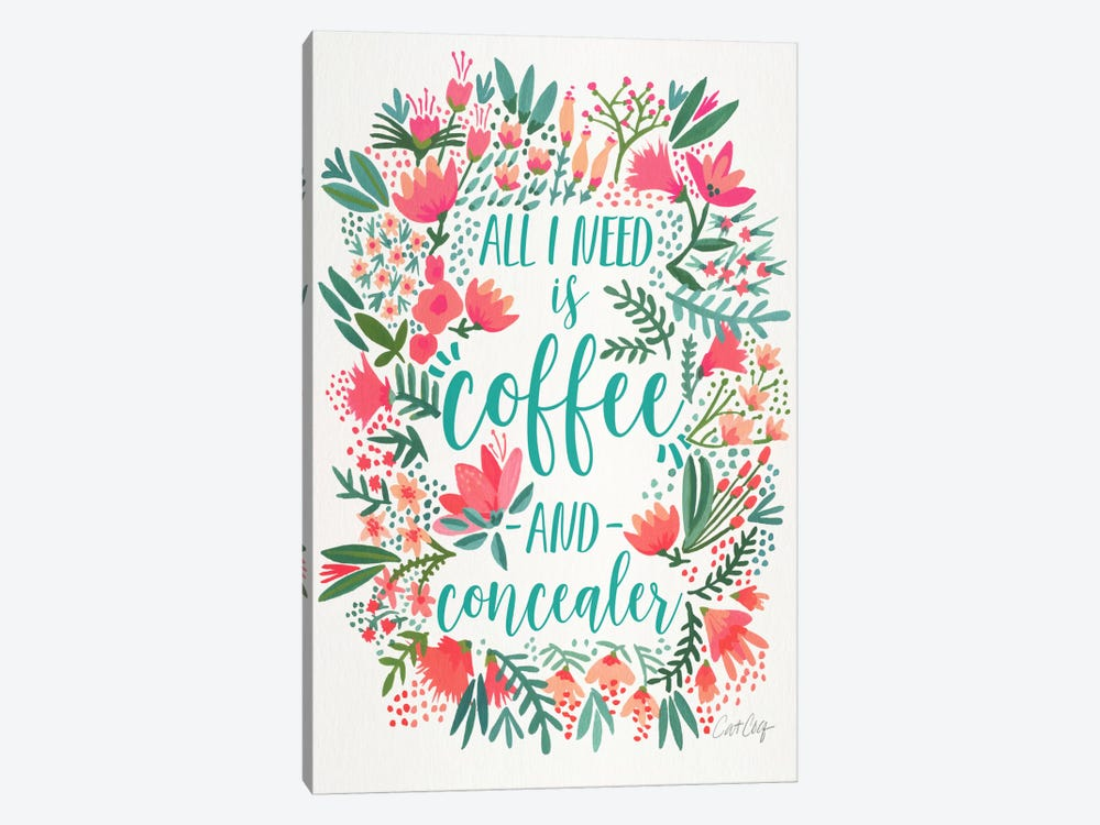 Coffee & Concealer I by Cat Coquillette 1-piece Canvas Art Print
