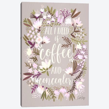 Coffee & Concealer II Canvas Print #CCE203} by Cat Coquillette Canvas Art Print