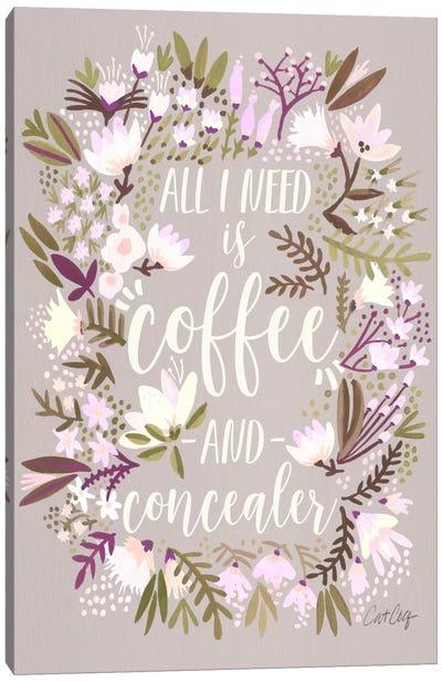 Coffee & Concealer II Canvas Art Print