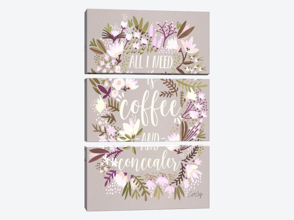 Coffee & Concealer II by Cat Coquillette 3-piece Canvas Artwork