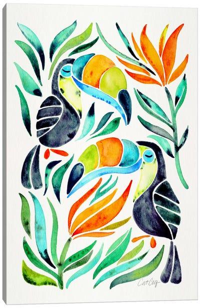 Colorful Toucans I Canvas Art Print