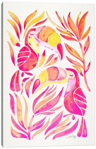 Colorful Toucans II Canvas Print #CCE205