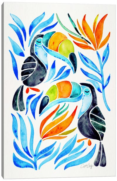 Colorful Toucans III Canvas Art Print