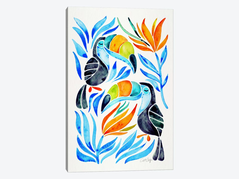 Colorful Toucans III by Cat Coquillette 1-piece Canvas Art Print