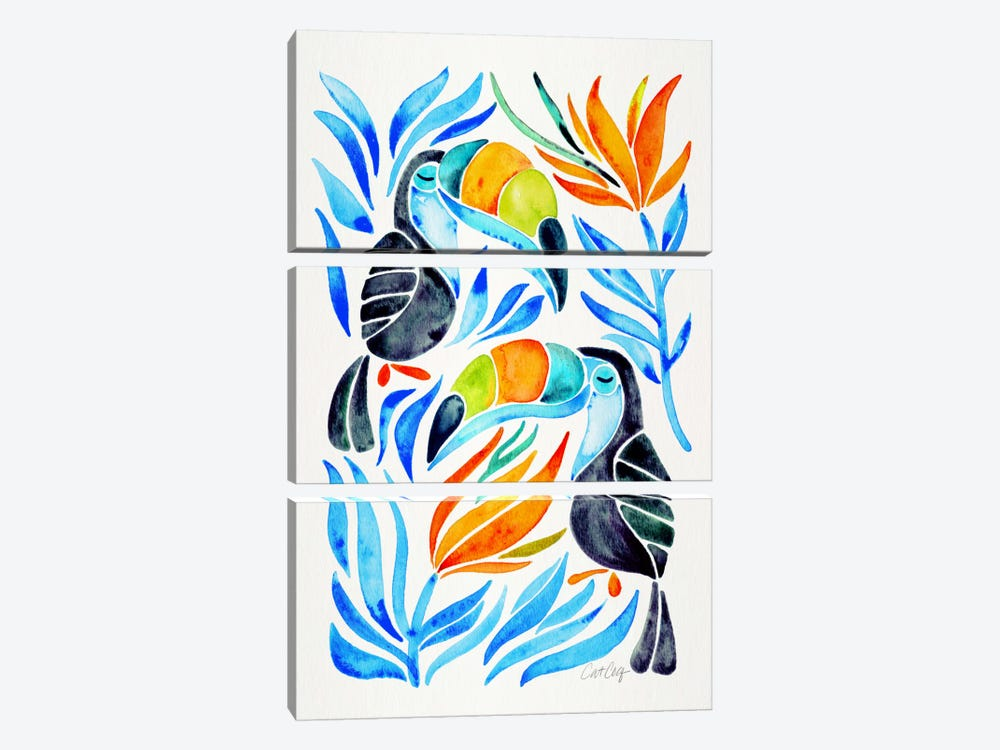 Colorful Toucans III by Cat Coquillette 3-piece Art Print
