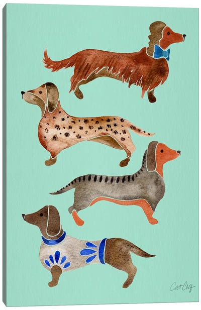 Dachshunds I Canvas Art Print