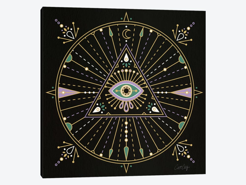 Evil Eye Mandala I by Cat Coquillette 1-piece Canvas Art