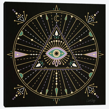 Evil Eye Mandala I Canvas Print #CCE210} by Cat Coquillette Canvas Artwork