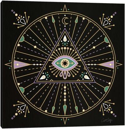 Evil Eye Mandala I Canvas Art Print