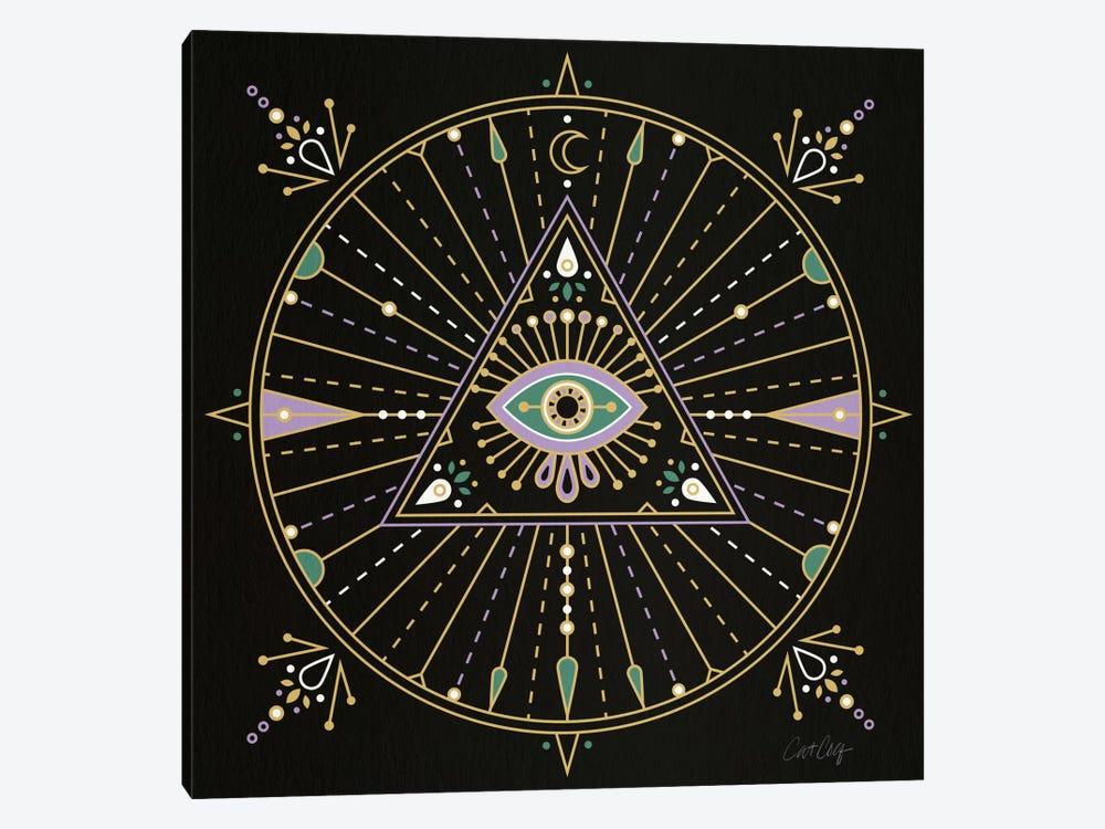 Evil Eye Mandala I by Cat Coquillette 1-piece Canvas Art