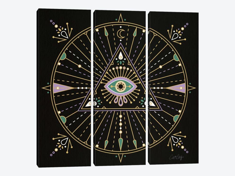 Evil Eye Mandala I by Cat Coquillette 3-piece Canvas Artwork