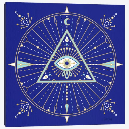 Evil Eye Mandala II Canvas Print #CCE211} by Cat Coquillette Canvas Wall Art