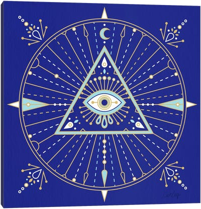 Evil Eye Mandala II Canvas Art Print