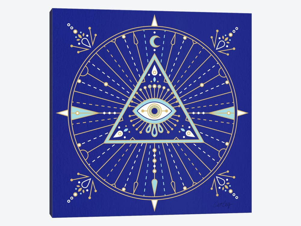 Evil Eye Mandala II by Cat Coquillette 1-piece Canvas Art Print