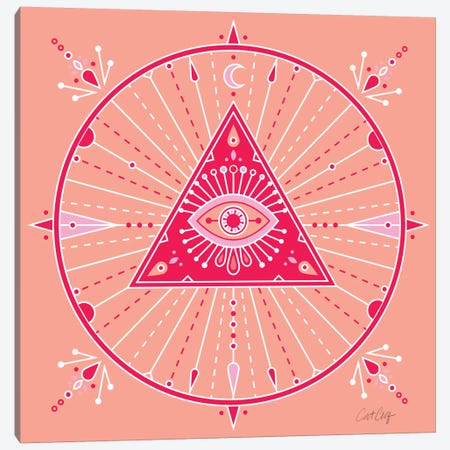 Evil Eye Mandala III Canvas Print #CCE212} by Cat Coquillette Canvas Art