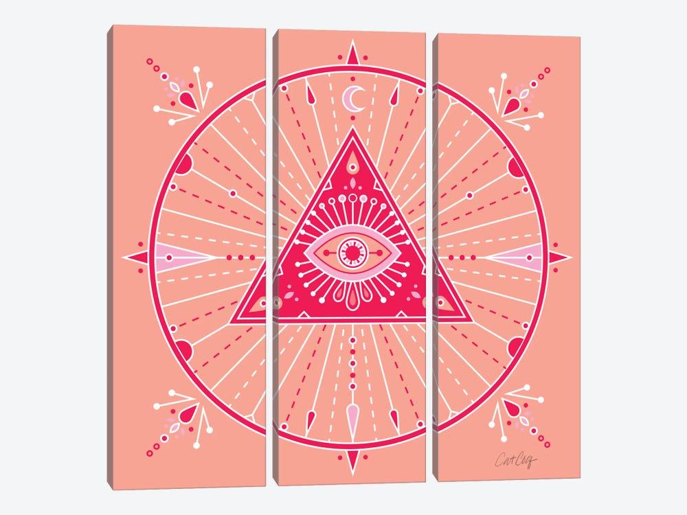 Evil Eye Mandala III by Cat Coquillette 3-piece Canvas Artwork