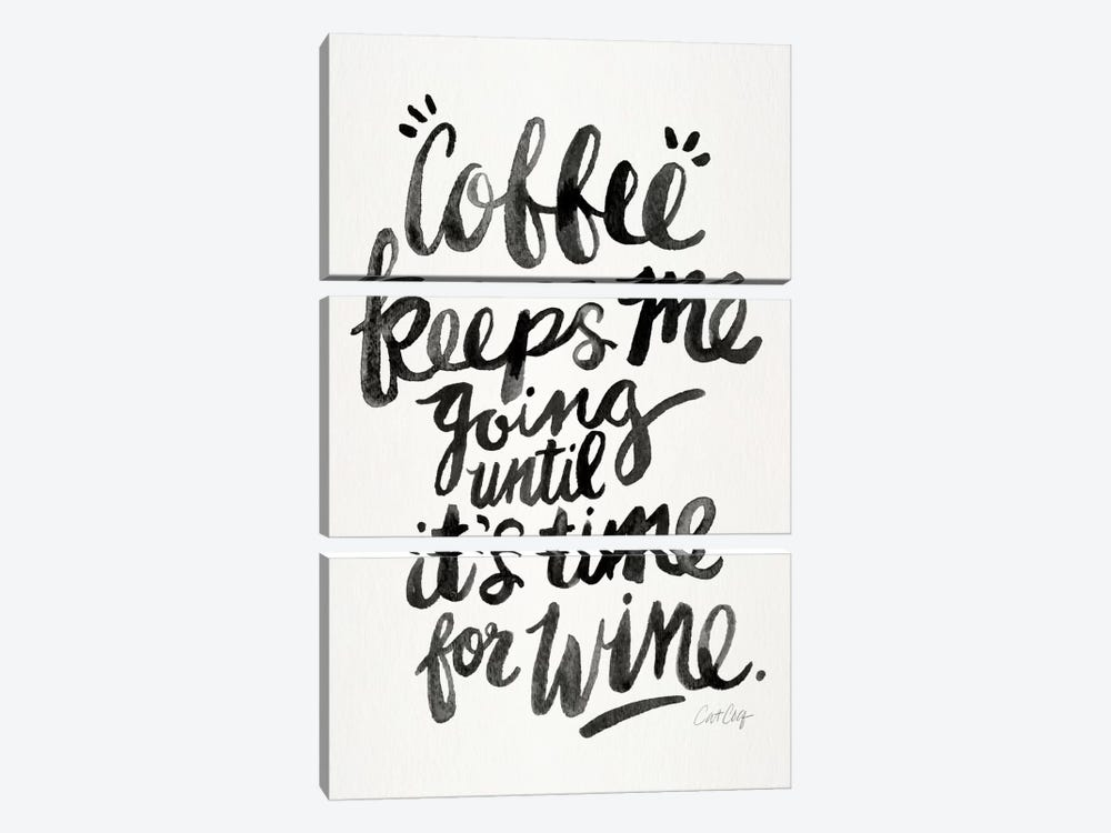 From Coffee To Wine I by Cat Coquillette 3-piece Canvas Wall Art