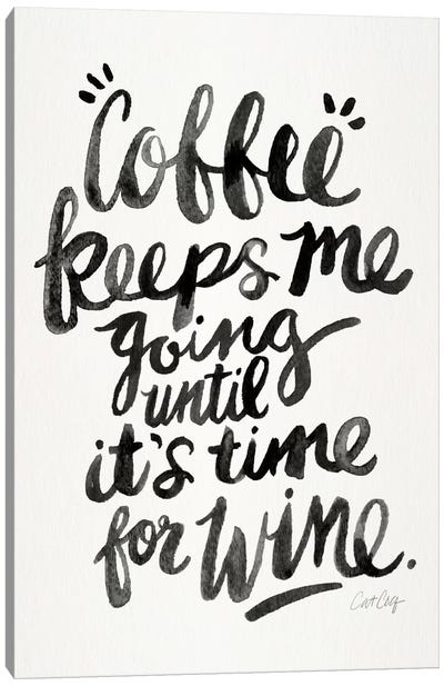 From Coffee To Wine I by Cat Coquillette Canvas Art Print