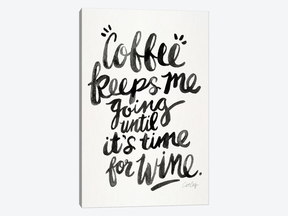 From Coffee To Wine I by Cat Coquillette 1-piece Canvas Art