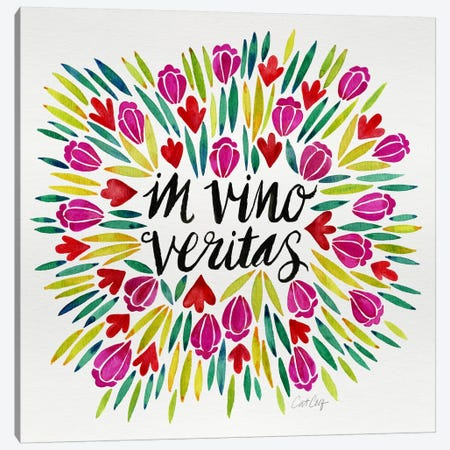 In Vino Veritas I Canvas Print #CCE218} by Cat Coquillette Canvas Wall Art