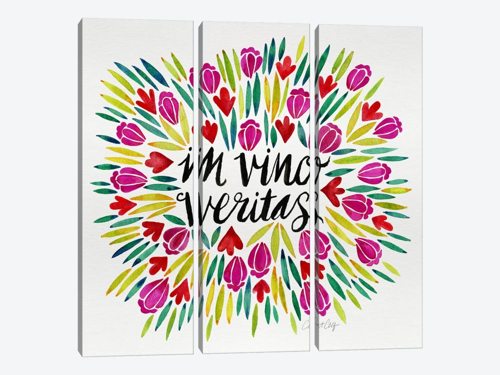 In Vino Veritas I by Cat Coquillette 3-piece Canvas Wall Art