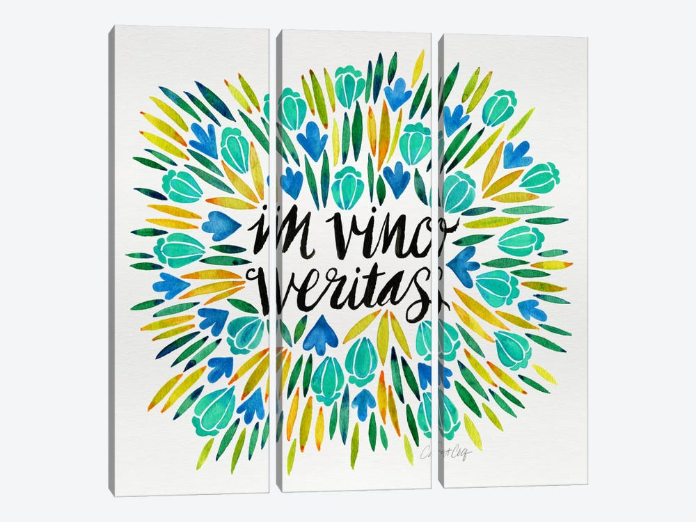 In Vino Veritas IV by Cat Coquillette 3-piece Canvas Art