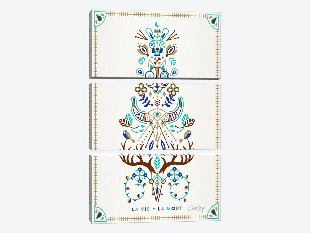 La Vie + La Mort I by Cat Coquillette 3-piece Canvas Art Print