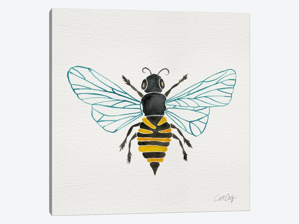 Lone Bee I by Cat Coquillette 1-piece Canvas Art Print
