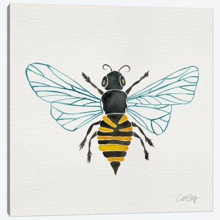 Lone Bee I Canvas Print #CCE226} by Cat Coquillette Canvas Wall Art