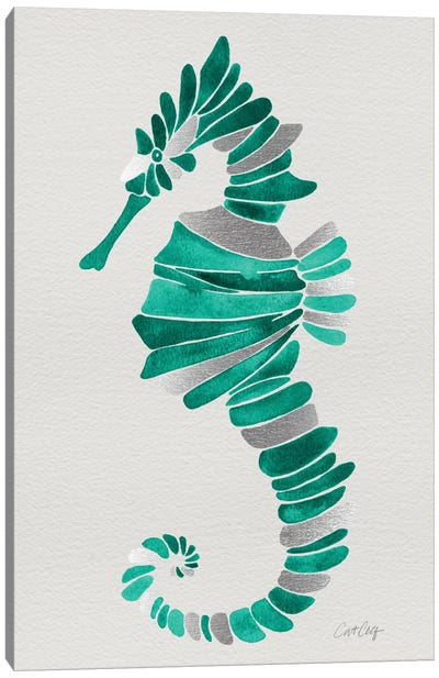 Lone Seahorse Canvas Print #CCE227