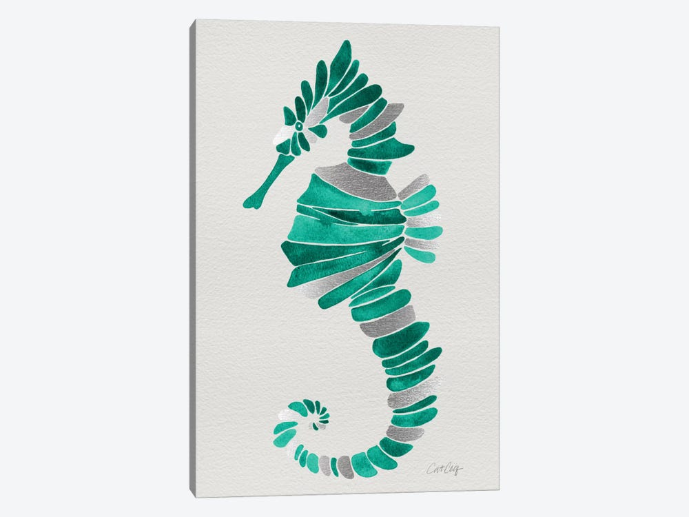Lone Seahorse by Cat Coquillette 1-piece Canvas Wall Art