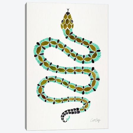 Lone Serpent Canvas Print #CCE228} by Cat Coquillette Art Print