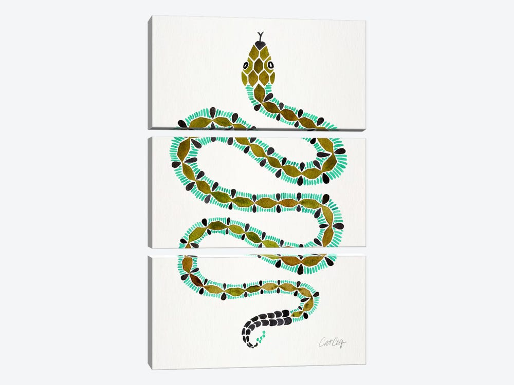 Lone Serpent by Cat Coquillette 3-piece Art Print