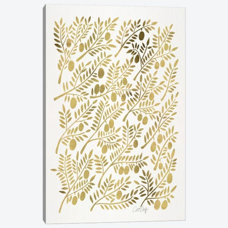 Olive Branches I Canvas Print #CCE231} by Cat Coquillette Canvas Art