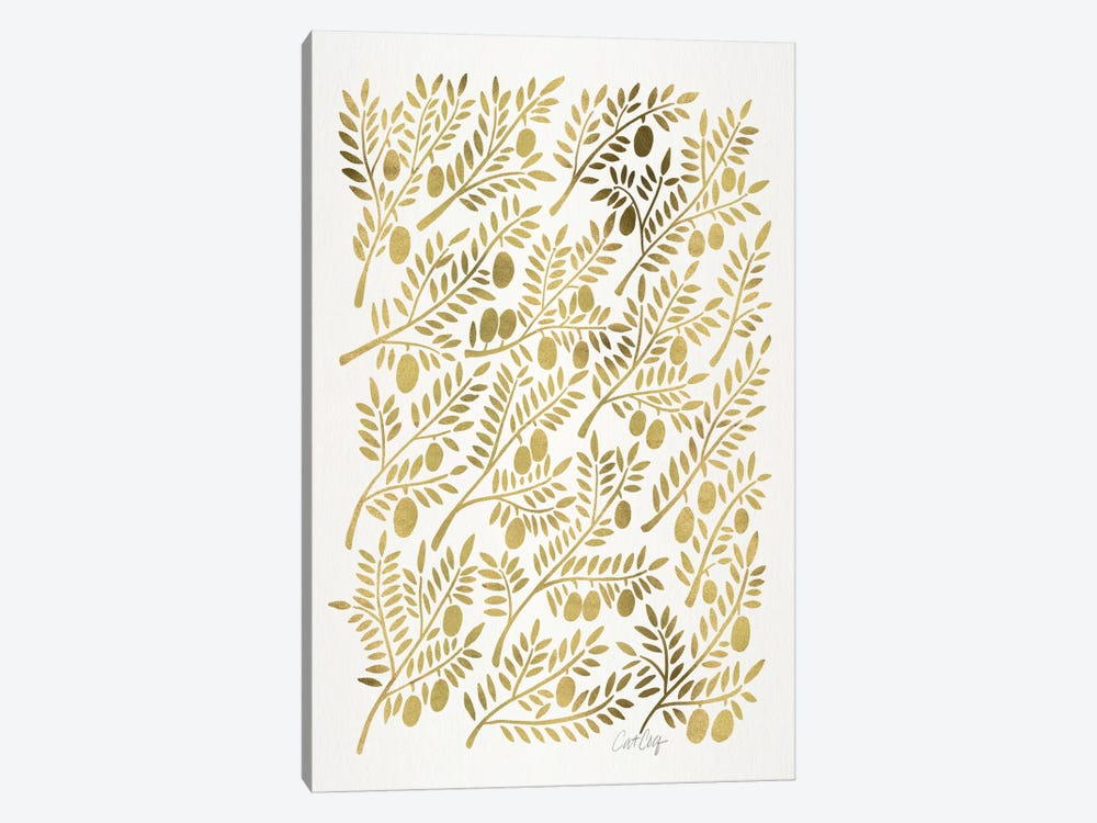 Olive Branches I by Cat Coquillette 1-piece Canvas Art Print
